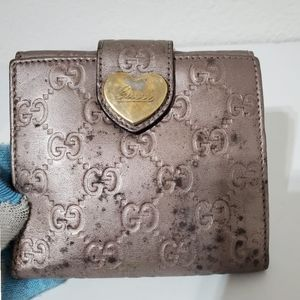Gucci Beige Guccissima French Wallet